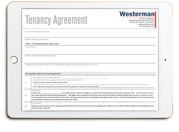 Westerman Property Solutions Tenancy Agreement